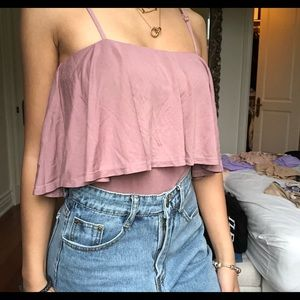 Mauve Ruffle Bodysuit Fashion Nova